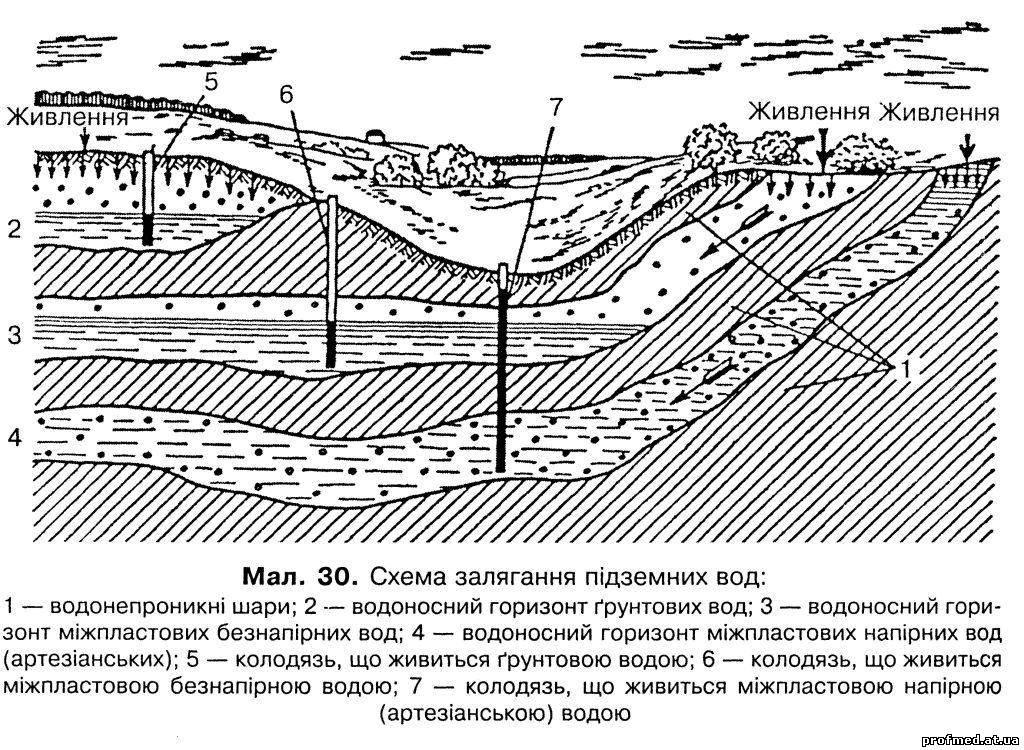 горизонт, який називають горизонтом ґрунтових вод