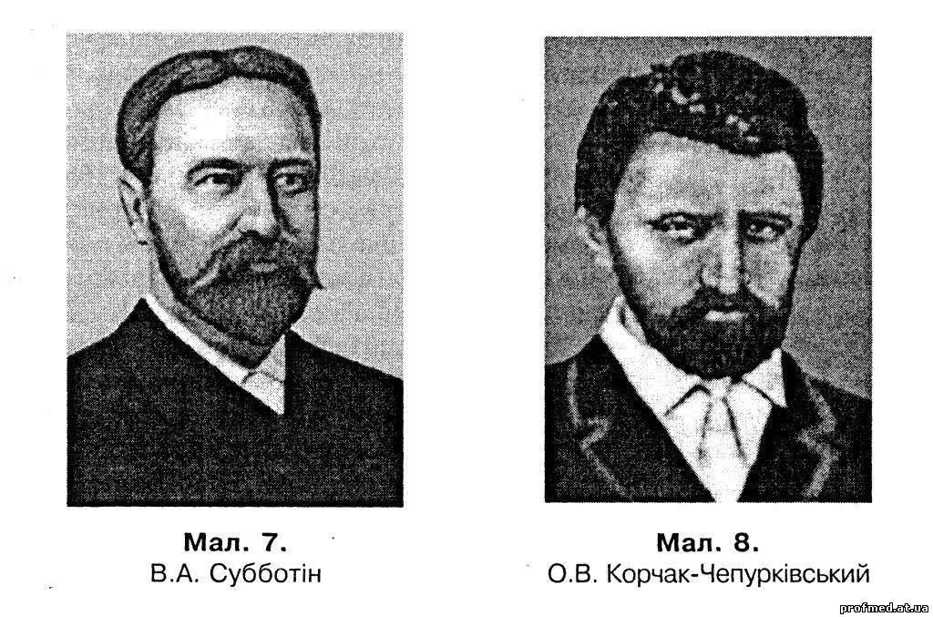 Викладання на кафедрі гігієни. В.А. Субботін, О. В. Корчак-Чепурківський